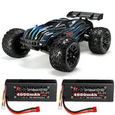 JLB Racing CHEETAH w / 2 Baterai 120A Upgrade 1/10 2.4G 4WD 80km / h Brushless RC Car Truggy 21101 Model RTR