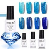 8 kolorów Blue Series Shimmer Glitter Nail Gel Soak-off UV Gel