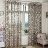 2 لوحة تنفس نصف تعتيم الفوال ستائر شفافة غرفة نوم غرفة المعيشة نافذة الفرز