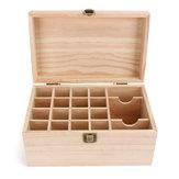 19 Slots Essential Óleo Display De Armazenamento Caixa De Madeira Caso Organizador De Recipiente De Aromaterapia