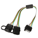 Trailer Splitter Harness Adapter 2-Way 4Pin Y-Split For Rear Camera Tailgate Light Bars