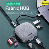 Baseus 7 in 1 Type-C HUB 3.0 auf HDMI RJ45 Multi-USB-Adapter für Macbook Pro HUB USB C Splitter Laptop