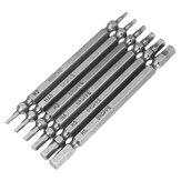 Broppe 6pcs Double Hex Head Magnetic Отвертка Биты H2-H6 100mm Long 1/4 дюймов Hex Shank