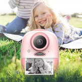 2600W Kids Children Digital Cameras Printer 2 Inch LCD Screen One-click Shotting Recording Printing HD Instant Thermal Printer Camera Outdoor Photography Props for Child Birthday Gift Toys