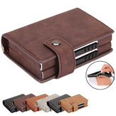 RFID Fashion Leather Card Holder Wallet Men Upgrade Double Box Money Bag