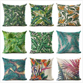 Honana 45x45cm Home Decoration Tree Plants 9 Optional Patterns Cotton Linen Pillowcases Sofa Cushion Cover