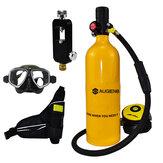 Set bombola da sub 1L Mini bombola da sub Set da subacquea con adattatori per respiratore Custodia per occhiali da sub Borsa