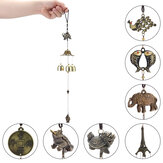 Медный Lucky Feng Shui Wind Chime Hanging Bell Jingle Doorative Кулон Шарм