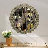 MiicoCreative3DDinosaurenjaula CLORURODEPOLIVINILO extraíble casa habitación decorativa pared decoración de la puerta pegatina