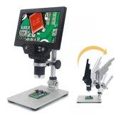 MustOOLG1200デジタルマイクロスコープ12MP7インチラージカラースクリーンラージベースLCDディスプレイ1-1200X連続