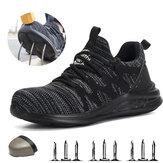 TENGOO Labor Shoes Lichtgewicht Ademend Smash-proof Lekvrije Safety Work Shoes Heren Wandelschoenen