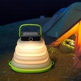 LUSTREONソーラーポータブル折りたたみハンギングキャンプランタンテントライトLED緊急ランプ防水