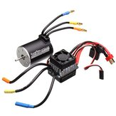 Racerstar 3650 Sensorless Sin escobillas Impermeable motor 60A ESC para 1/10 RC Off-Road Truck Truggy Cars