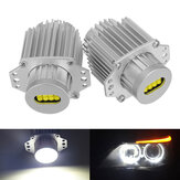 80W LED Angel Eyes Lights Bulbs sem erros 6000K Branco para BMW E90 E91 3 Series 325i 328i 335i 2004-2008