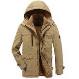 Veste d'hiver extérieure en coton épais pour homme