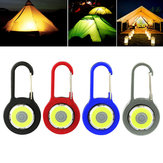 Mini 3W Portable COB Camping Lantern LED Key Chain Flashlight Torch for Outdoor Hiking Fishing