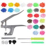 350pcs bricolage artisanat KAM Snaps T5 Snap Starter plastique Poppers attaches + pinces