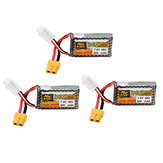 3Pcs ZOP Power 7.4V 850mAh 45C 2S Lipo Батарея XT60 Plug для Дрон