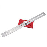 Righello Scribing multifunzione Woodwokring Line Marker Gauge T Tipo Righello Hole Righello divisore