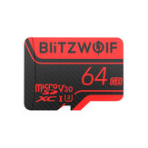BlitzWolf®BW-TF2Micro SD Card with Adapter Class 10 U3 Memory Card TF Card 32G 64G 128G 256GB for Camera UAV Recorder