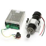 110-220V 500W Motor del Husillo con Regulador de Velocidad y Abrazadera 52mm para Máquina CNC