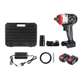 NANWEI 380N.M Brushless Electric Impact Wrench Adjustable Speed Regulation With 2 4.0Ah Lithium Battery and Charger