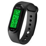 SKMEI 1666 LED Light Digital Watch 5ATM Waterproof Date Display Sport Unisex Watch