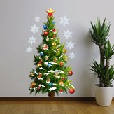 Kerstboom Verwijderbare DIY Venster Muur Sticker Home Party Decoratie