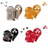 3D espelho amor corações adesivo de parede decalque faça você mesmo em casa arte mural decoração removível