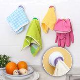 Держатель для скрепки для мытья посуды Стойка для хранения посуды для посуды Ванная комната Съемная рука Полотенце Вешалка Крюк