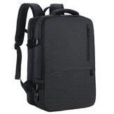 OUMANTU 1804 Sac à dos pour hommes d'affaires Sac pour ordinateur portable Épaules de rangement Sac de voyage en plein air avec cartable étanche USB