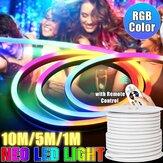 220V LED Strip 8*16mm RGB Neon Flex Rope Light 1/5/10M Waterproof LED Tape 5050 LED Neon Flex Tube IP65 String Lamp Multi Color for Home DIY Christmas Decor
