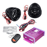 12V Anti-theft Motorcycle Alarm System MP3 FM SD USB Remote Engine Start+2 Horns