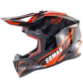 SOMAN ECE Motocross Visage Complet Protection De Sécurité Adulte Moto Casque Hors-Route Flip Up Bouclier Soleil SM633