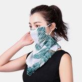 Цветочные дышащие печатные маски Шея Защита солнцезащитный крем