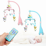 Baby Crib Mobile Bed Bell Hanging Holder Music Scatola Night Light Giocattoli appena nati regalo