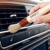MATCC 2PCS Szczotka do czyszczenia pędzli samochodowych szczecina Premium Szczecina z drewnianym uchwytem