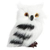 5 SZTUK Sowa Biały Czarny Furry Ozdoba Ozdoba Zabawki Ozdoby Symulacji