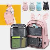 Frauen Multifunktionale leichte Rucksack Kaninchen große Kapazität solide Schule Tasche