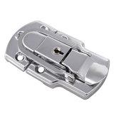 6401B 90 × 50mm Krom Kaplama Drawbolt Kapatma Mandalı Kılıf Mandalı Anahtar Kilitleme