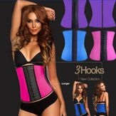 Bone Latex Gomma Vita Trainer Body Shaping Shaper Cincher Corsetto Cintura dimagrante sottoseno