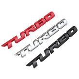 Turbo 3D metalen auto stickers belettering badge sticker voor auto lichaam achter achterklep