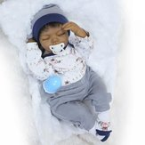 NPK Collection 20inch Soft Siliconen Lijmen Doek Body Reborn Dolls Levenachtig Sleeping Baby Toy