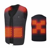 Unisex 9-Heizzonen Elektrische Weste beheizte Jacke USB Warm Up Winter Body Racing Mantel Thermal