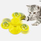 回転する3つの頭の風車の猫のおもちゃ引っかき髪ペットの猫インタラクティブなおもちゃ