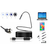 2 in 1 5mm 6LED IP67 Micro USB/USB Endoscope Borescope Inspection Camera Rigid Cable for Android PC