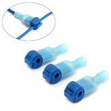 Excellway® 100PCS Blue Quick Splice Wire Terminals&Male Spade Connector 2.5-4.0mm² 16-14AWG