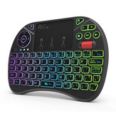 RII X8+ Colorful Backlit 2.4G Air Mouse Mini Wireless Keyboard Touchpad for Android TV Box Laptop