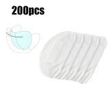 200Pcs 3-Layers Masks Disposable Pads PM2.5 Filter Mat Anti Dust Haze Breathable Mouth Face Mask Replacement Gasket