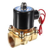 LAIZE DN20 NPT 3/4 Brass Electric Solenoid Valve AC 220V/DC 12V/DC 24V Normally Closed Water Air Fuels Valve